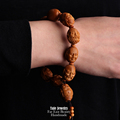TALE Wholesale Artisan Hand Carved Olive Nut Seed Buddha Statue Mala Beads Bracelet Chinese Miniature Jewelry