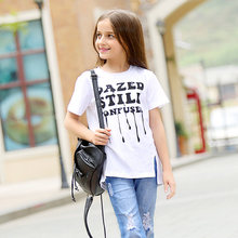 Teenage girls clothing T-shirts 5 6 7 8 9 10 11 12 13 14 T Years Old Kids Clothes Girls Top Shirts 2016 Summer - Baby Shally's Shop store