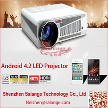 New 2014 3D Led Hid Bi Xenon Projector Lens Light Build in Android 4.2 Support Wifi Home Theater System(China (Mainland))