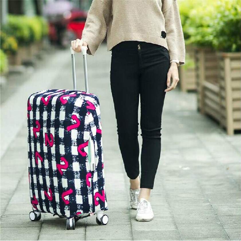 High Quality Luggage Cover 18-20 Inches Elastic Nonwoven Dust-Proof Travel Bag Suitcase Cover(China (Mainland))