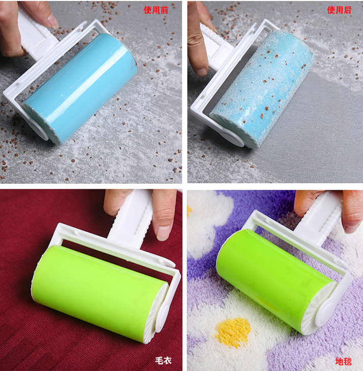 Washable Sticky Hair Sticky Clothes Sticky Buddy For Wool Dust Catcher Carpet Sheets Hair Sucking Dust Drum Lint Rollers GYH(China (Mainland))
