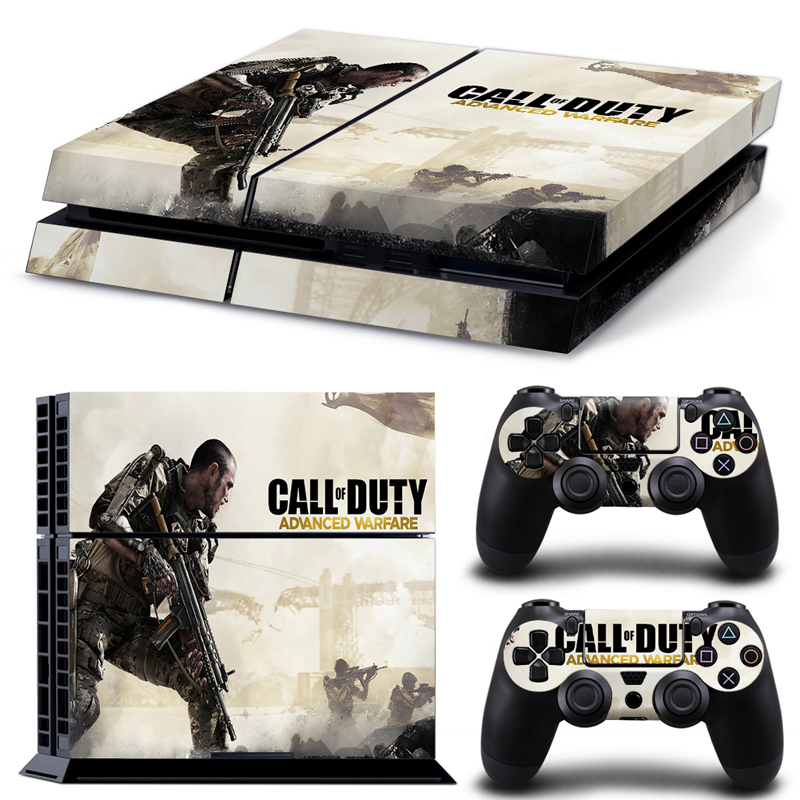 Call of Duty skin sticker for play station 4 PVC vinyl decal skin for Sony Playstation 4 Console and dualshock 4 for ps4 skin(China (Mainland))
