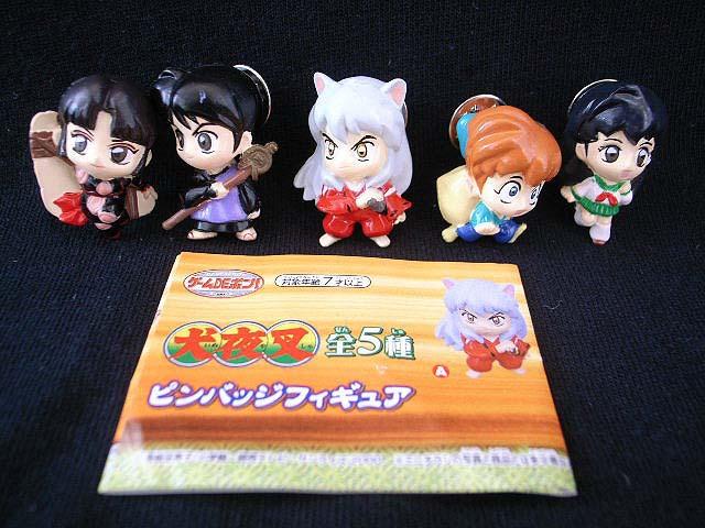 Banpresto Inuyasha Set 5 Mini Pin Gashapon Figure - Anime Toy Store store