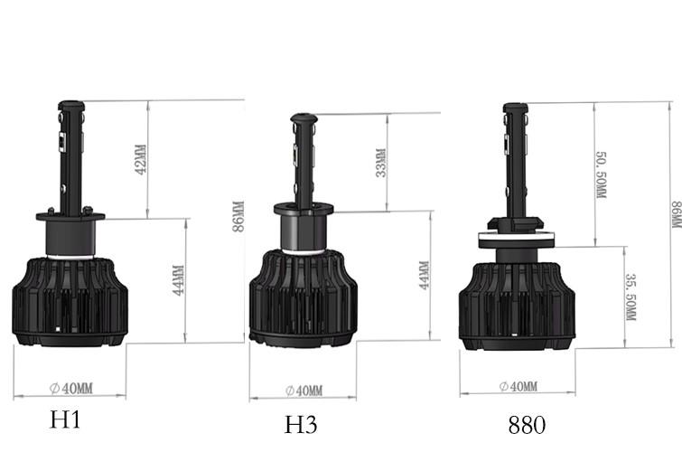2015 40W 4000LM 9004 9007 LED Headlight Conversion Kit Driving Lamp Bulb LED  Car Light Source 6000K