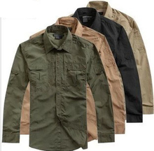 Men's Clothes Tactical Casual Quick Drying Clothing Long Sleeve Shirts Outdoor Camping Anti-UV Breathable Combat Military Shirt