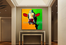 Buy 100% Handpainted Oil Painting Lovely Cow Living Room Decor Frameless Painting Home Decorative Art Picture Paint Canvas for $9.80 in AliExpress store
