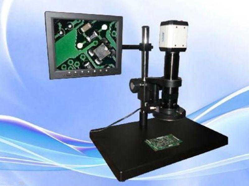 Digital Industrial Inspection Zoom Video Microscope USB&VGA output +CCD camera ya(China (Mainland))