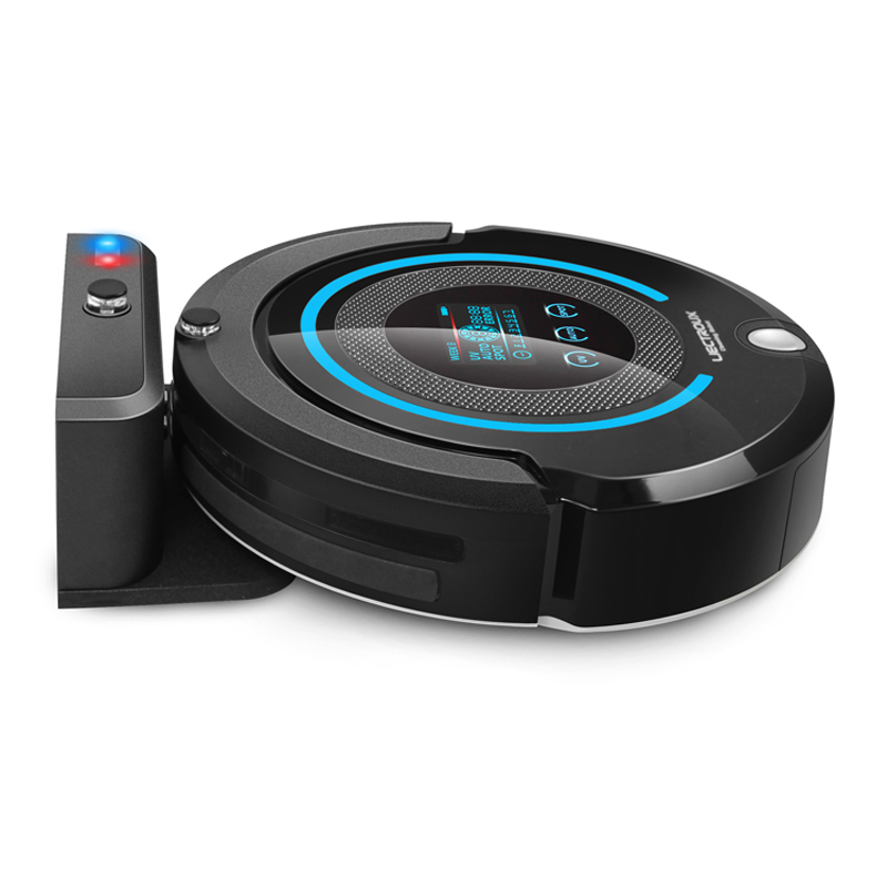 (Ship From Canada)Multifunctional Robot Vacuum(Sweep,Vacuum,Mop,Sterilize),Schedule,Self Charge,Remote Contro,big LCD(China (Mainland))