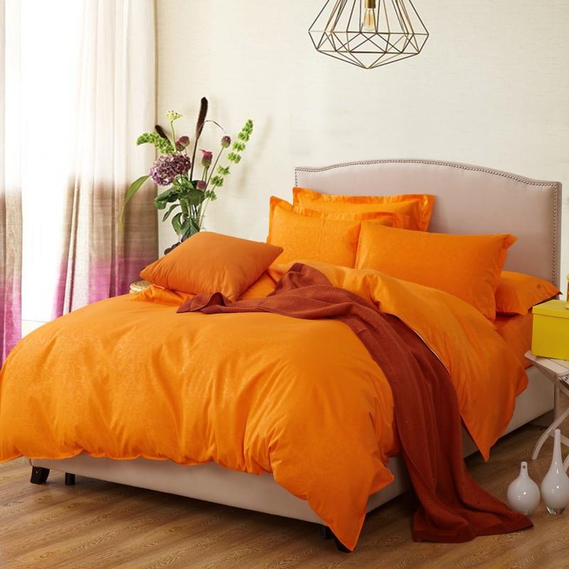 4pcs full size contemporary comforters quilts and comforters orange bedding girls comforter sets. Black Bedroom Furniture Sets. Home Design Ideas