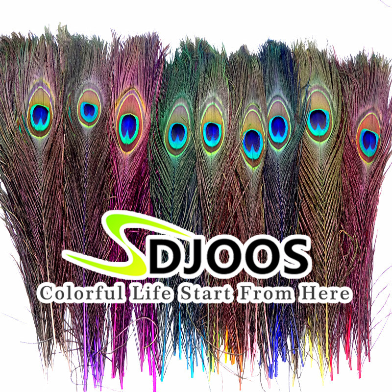 50 pcs Natural Peacock Feathers Bulk Centerpieces Long Peacock Feather Cheap for Decoration Christmas Costume Wedding Wholesale(China (Mainland))