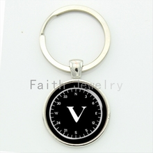 Novelty unique compass & clock style compass key chain personalized nautical sailors keychain men jewelry seaman gift KC573(China (Mainland))
