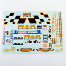 1/10 RC Racing DRIFT Model Car Body Max Power Self Adhesive Decal Sticker Remote Control Car Model Toy Accessories(China (Mainland))