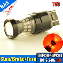 Buy 2Pieces/lot T20 7443 7440 W21/5W 3014 44W XBD SMD Auto Turn Signal Brake Lamps Amber Red White 12V 24V Parking Leds Rear Lights for $15.99 in AliExpress store