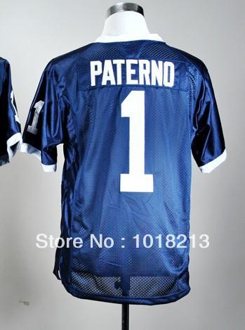 cheap NCAA college football jersey Penn State Nittany Lions #1 Joe Paterno blue stitched football shirt(China (Mainland))
