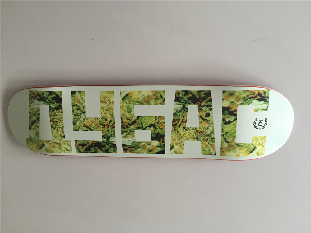 """Russian Brand Union 8"""" Full Canadian Maple Skateboard Deck Wooden Letter Pattern Shape Skate(China (Mainland))"""