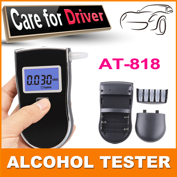 professional Breathalyzer Portable Alcohol Tester Digital Breath Alcohol Meter Parking Car Detector Gadgets(China (Mainland))