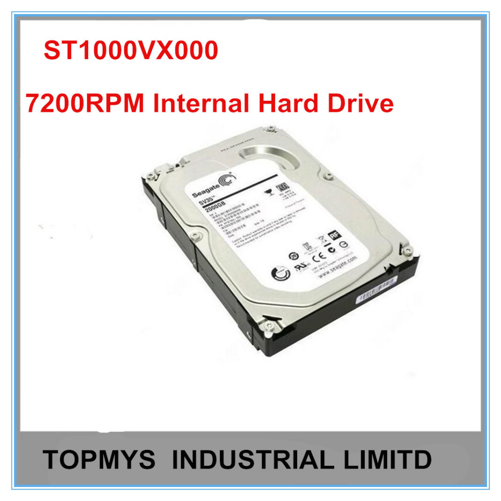 Free Shipping 3.5 Inch Seagate Monitoring HDD ST1000VX000 6Gb/s 1TB HDD 7200RPM Internal Hard Drive For Security System nvr(China (Mainland))
