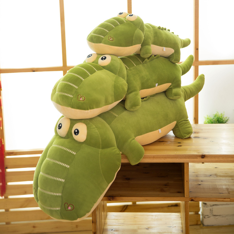 Large Animal Crocodile Plush Toy Stuffed Soft Cartoon Alligator Pillow Doll Free Shipping(China (Mainland))