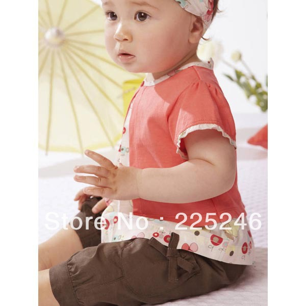 3 Pcs Kids Baby Girls Fruits Pattern Top+Pants+Hat Set Outfits 0-4 Years Baby Clothes  Set