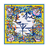 [BAOSHIDI ]12m/m thick 100 Pure Silk 90*90cm Large Square Scarf women, Luxury Brand original design scarves for Elegant Lady(China (Mainland))