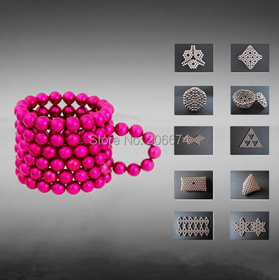 Hot 125pcs DIY Red Neocube neodymium Toy Neo Cubes Puzzle Cube Toy Sphere Magnet Magnetic Bucky Balls 5mm Buckyballs(China (Mainland))