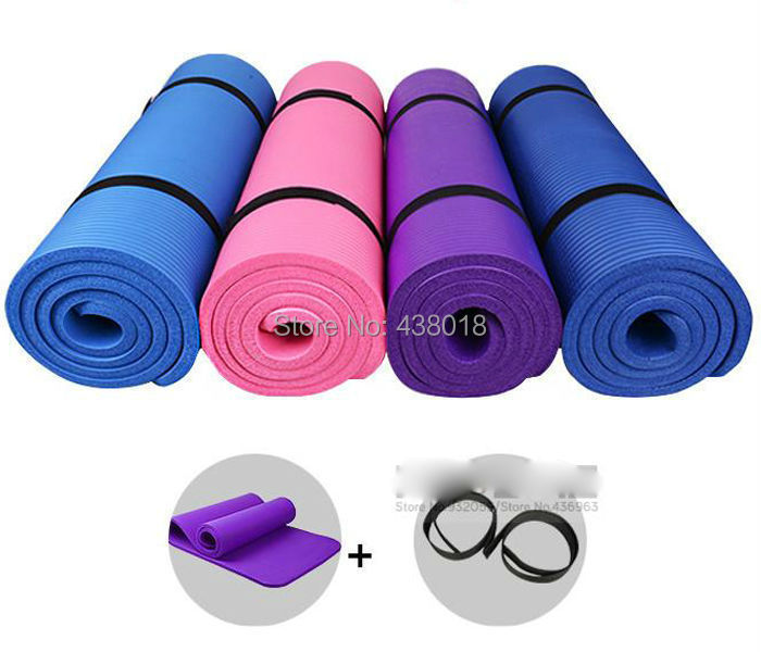 Anti-skidding Yoga Mat EVA 4mm Slip-resistant Thickening Broadened Yoga Mat 173*61 NINE colors(China (Mainland))