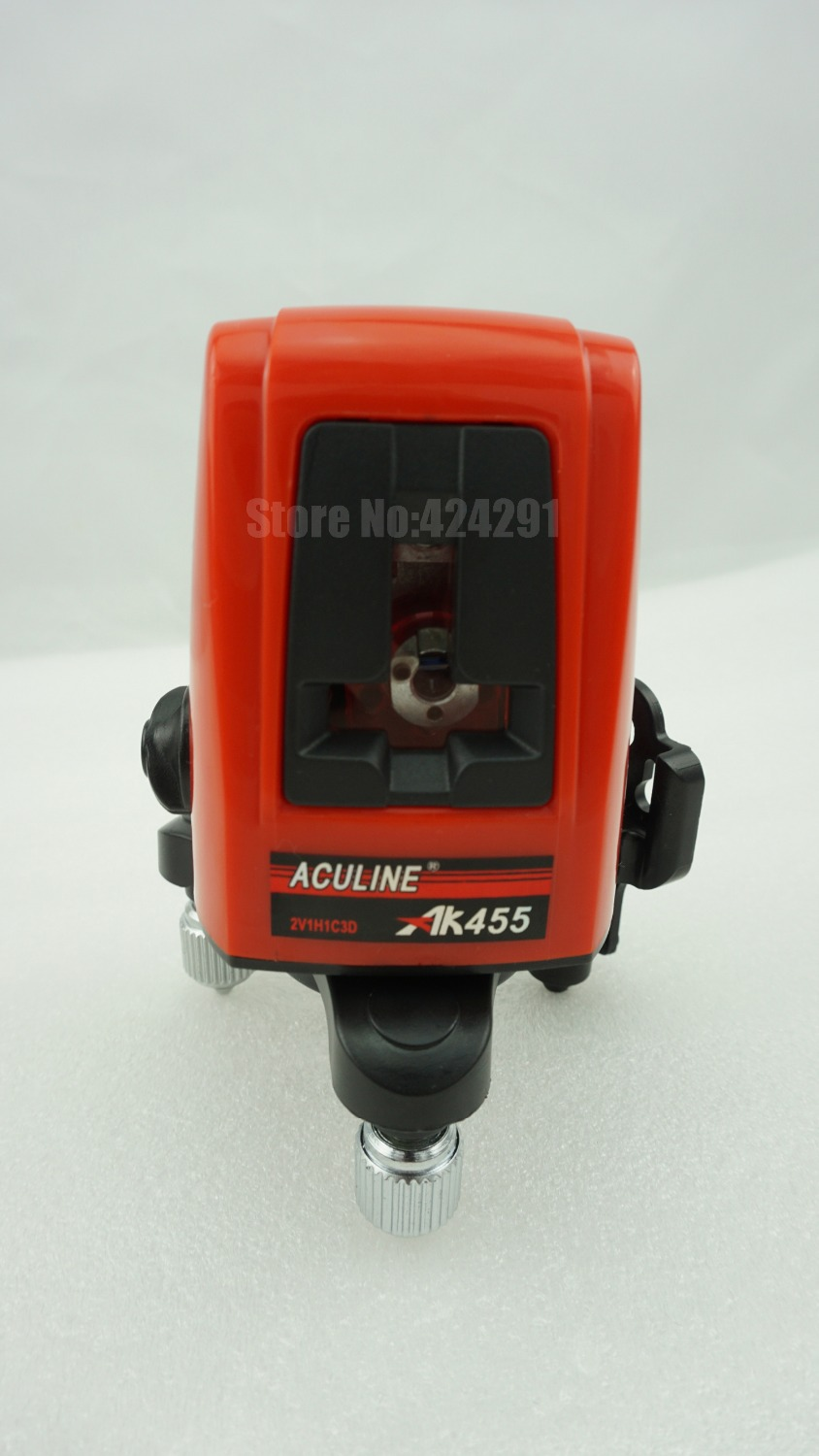 Free Shipping 3 Line 3 Point AK 455 360degree Self leveling Cross Laser Level Red HOT