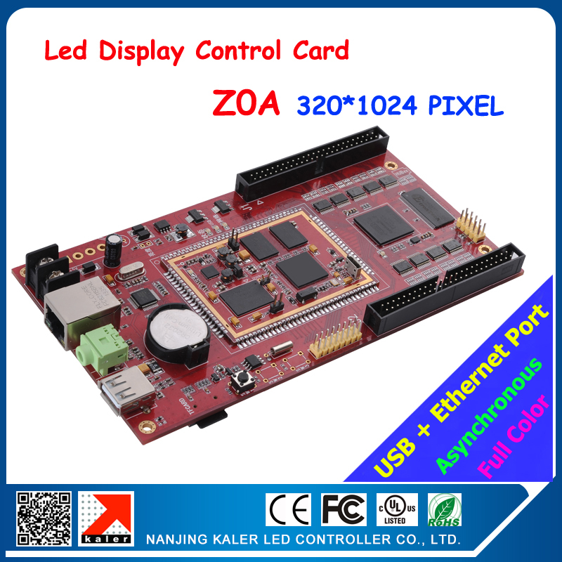 led display control card full color asynchronous video dislpay led screen card Z0A 320*1024pixel with usb and ehternet port(China (Mainland))