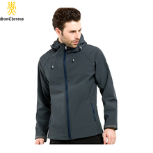 2016 New 7 Colors Spring Sport Soft Shell Outdoor Jacket Waterproof Breabthable Men Jacket Size S-3XL(China (Mainland))