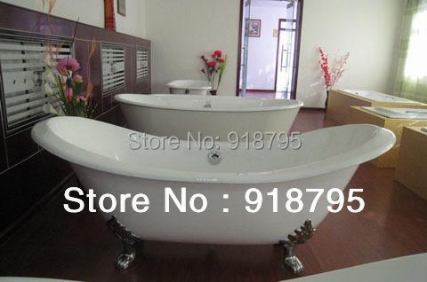 Free shipping bathtub cast iron double slipper bathtub<br><br>Aliexpress