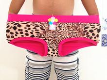 Sexy lingeries Briefs Women women's Panties Plus SizeTall waist belly in leopard print XXL-6XL Mother Underwears