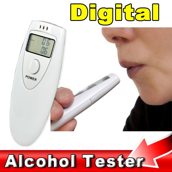 1PCS Digital Alcohol Breath Tester Professional Mini Police Alcohol Analyzer Gadget detector For Driver safe driving easy use(China (Mainland))