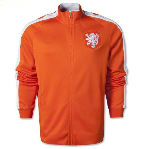 14 15 orange and blue soccer jacket new soccer jersey15 16 football jacket shirt soccer Football