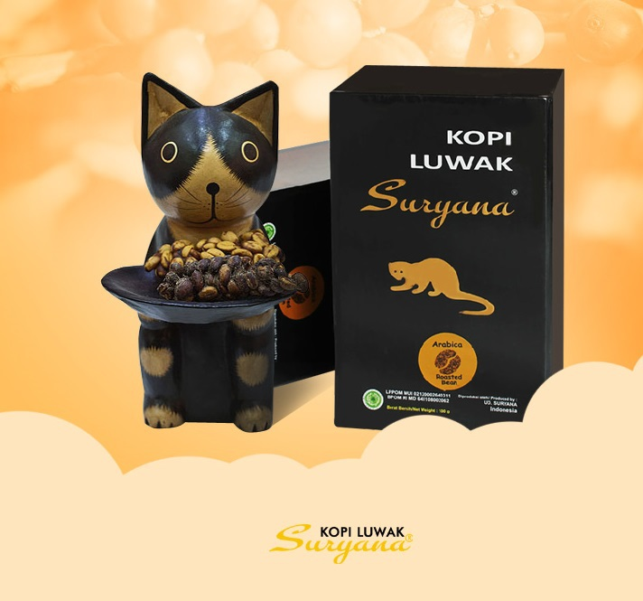 Coffee beans imported from Indonesia cat excrement 200 g luwak coffee arabica 100 authentic kopi luwak