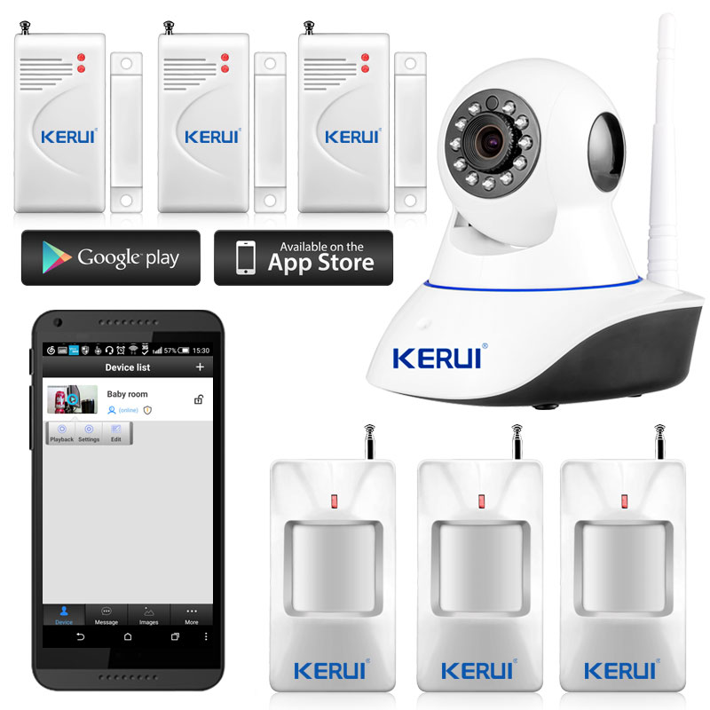 32G SD card+Wifi IP Camera Alarm System Home Security with PIR Motion Sensor, wireless App Control With Night Infrared Light(China (Mainland))