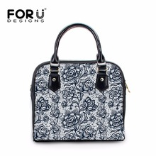 Buy FORUDESIGNS 2017 Women Famous Brand Handbags Vintage Lace Flower Designer Womens Leather Handbag Ladies Messenger Shoulder Bags for $44.99 in AliExpress store
