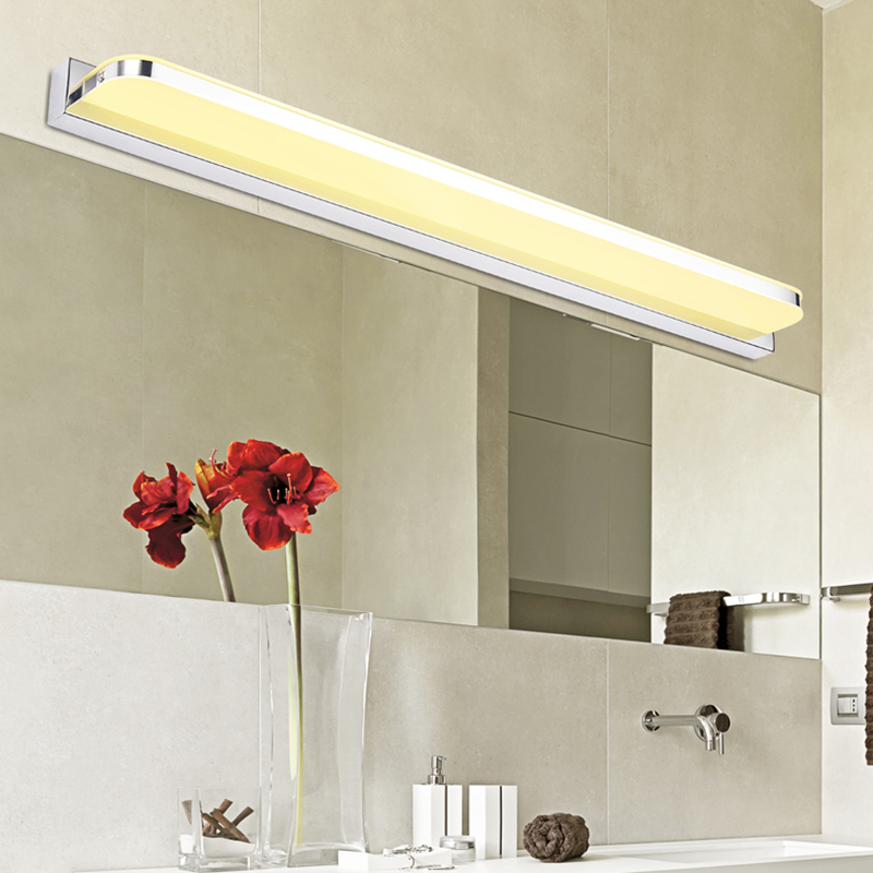 modern bathroom mirror Light Anti-fog front lamp Mini Style stainless steel led Wall mounted Lights lampara de pared up lamps(China (Mainland))