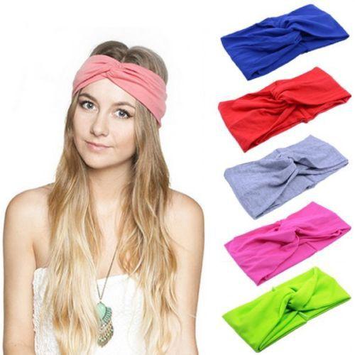 1 PCS Women Girl's New Fashion Turban Twist Headband Head Wrap Knotted Soft Hair Band Hair Accessories(China (Mainland))