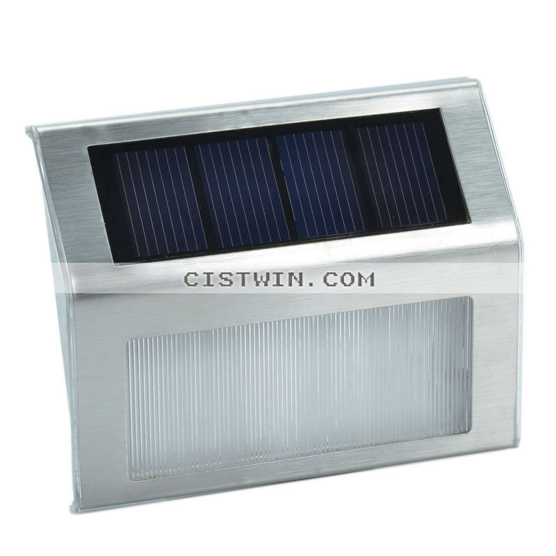 2-LED Control Solar Lamps Wall Lamps Wall Mounted Fence novelty Lighting Garden Solar Lamps Lightst(China (Mainland))