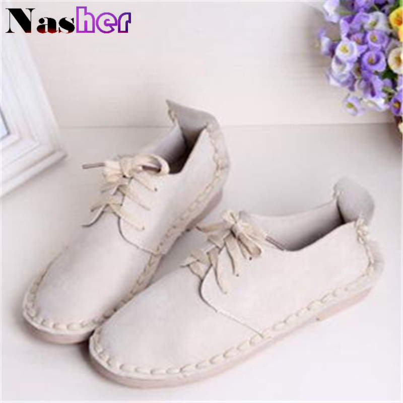 2016 spring and autumn new pattern europe and the british retro lace up shoes flat round singles shoes wholesale FG0315(China (Mainland))