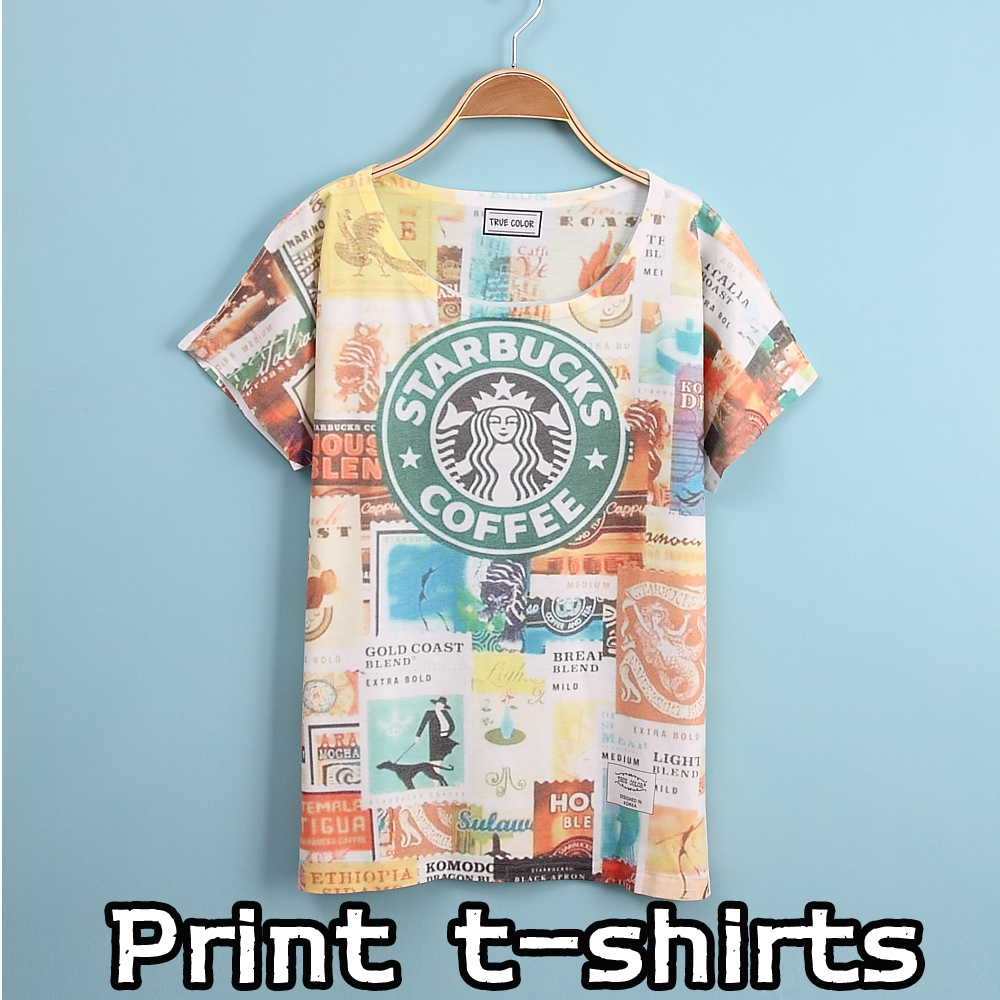 Summer style new printing t shirts short sleeves women 39 s t for Best online tee shirt printing