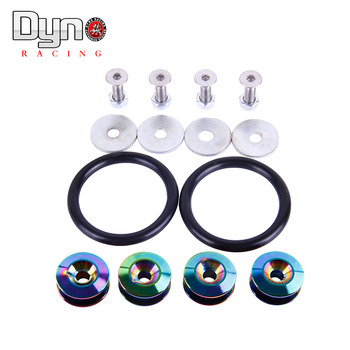 Dyno racing Neo Chrome Quick Release Fasteners are ideal for front bumpers, rear bumpers, and trunk / hatch lids without logo