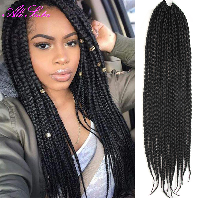 3X box braids hair crochet braids hairstyles secret hair extensions ...