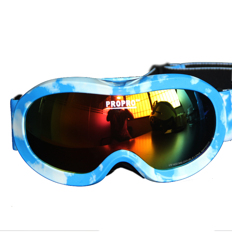 Anti-fog UV Protective Anti-scratch Eyewear Protective Kids Snowboarding Goggles for Boys and Girls(China (Mainland))