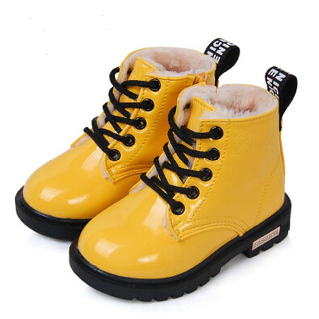 2016 сапоги детские мальчики снег непромокаемую обувь дети кожаные сапоги мальчики сапоги девушки мартин теплый обувь детская спортивная обувь детские обувь для девочек обувь детская обувь для мальчиков 21 - 36