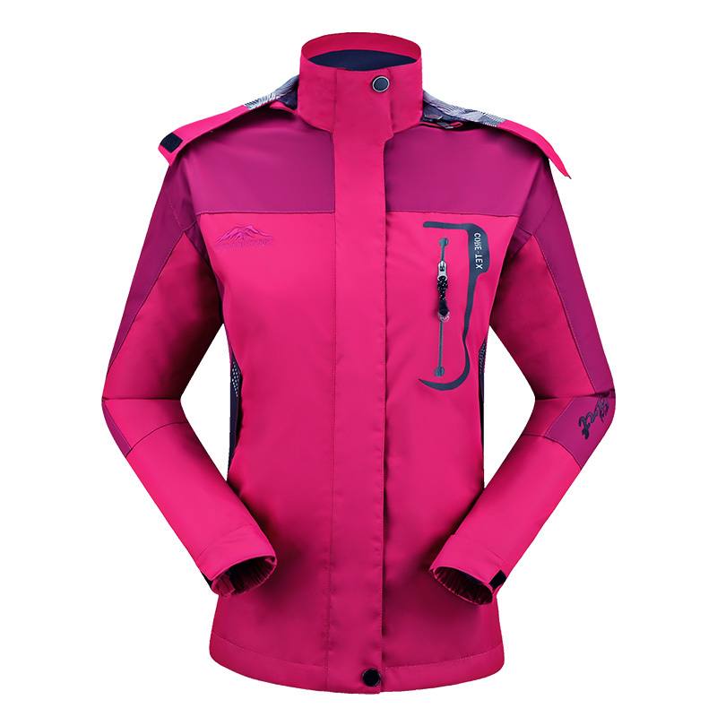 Women Outdoor Jacket Waterproof Windbreaker Spring Autumn Climbing Hiking Mountain Coats Camping Clothes Leisure Outwears 8868