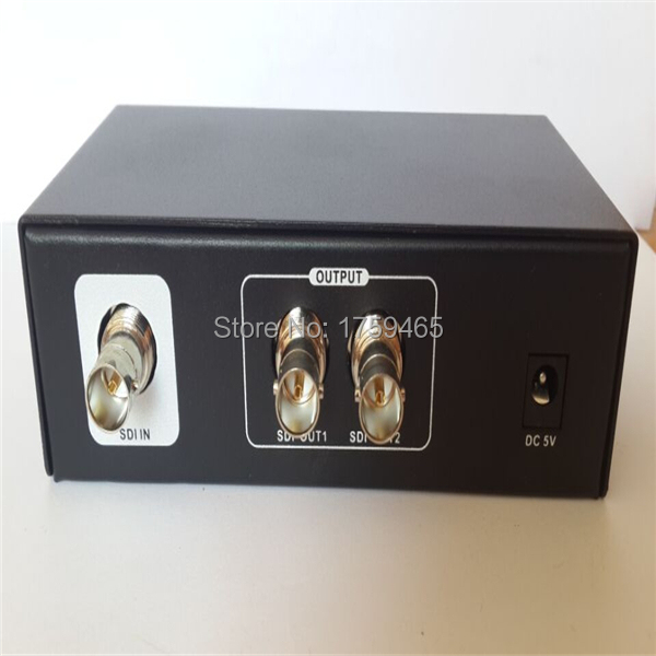 SDI 1x2 Powered Amplifier Splitter 1 in SDI HD lossless signal distribution to 2 output 2 ports(China (Mainland))