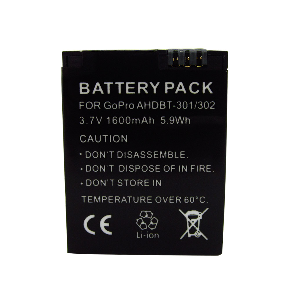 Digital Batteries Replacement 1600mAh Rechargeable Battery AHDBT 301 AHDBT 201 For Gopro Hero 3 3 Camera