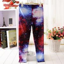 Children Plus Size XL-S Galaxy Print Fitness Leggings/Boy Novelty Pants 3D Leggins Galaxy Fashion Capris(China (Mainland))