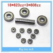 Kossel Legacy Bearings Kit – (18) 623ZZ bearing with (3) 608ZZ bearing for the liner ball bearing- DIY 3D Printer Parts